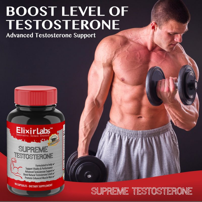 ElixirLabs Supreme Testosterone promotional photo